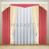 Комплект белорусских штор для комнаты БИРИДА