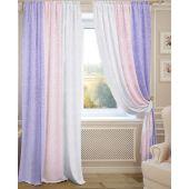 Комплект штор для зала или спальни ИАНТИНА в стиле радуга из жаккарда