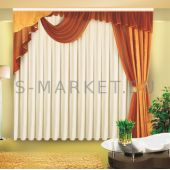 Шторы на одну сторону для гостиной или спальни ОЛИМПИЯ