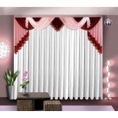 Ламбрекен для комнаты с качелями, хвостами и галстуком АГО