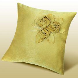 Наволочка декоративная ПЕЛАГЕЯ однотонная из ткани софт цвет золото