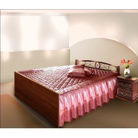 Покрывала двухстороннее с оборками из вуали на односпальную кровать