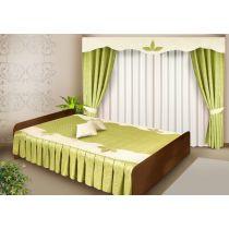 Комплект для спальни РАСАЛЕС (шторы + покрывало)