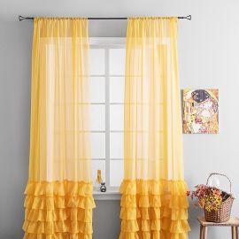 Комплект штор из вуали с рюшей НОА цвет золото