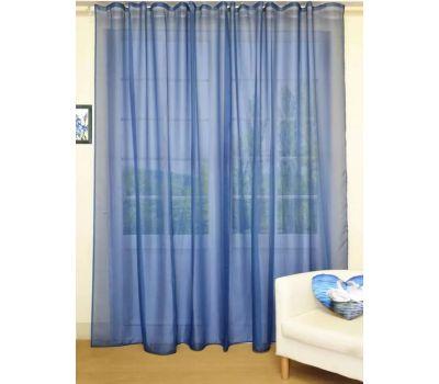 Тюль - вуаль (однотонная) цвет Синий