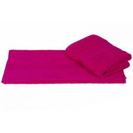 Махровое полотенце цвет фуксия, 70 х 140 см