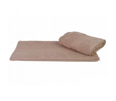 Махровое полотенце цвет бежевый, 70 х 140 см