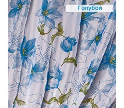 Тюль - вуаль (однотонная) цвет Голубые цветы