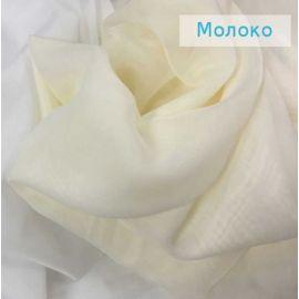 Тюль - вуаль (однотонная) цвет Молочный